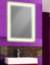 Зеркало со светодиодной подсветкой влагостойкое 800х600 мм d-2 бесплатная доставка