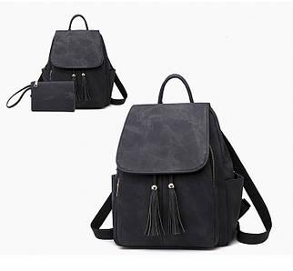Женская сумка - рюкзак HiFlash черная
