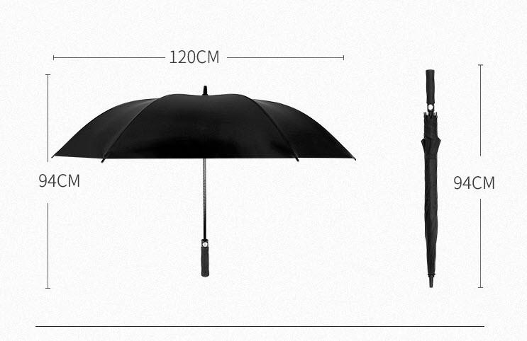 Стильный большой зонт трость