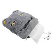 Электрическая грелка для ног E-Warmer F51 Кот Серый, фото 2