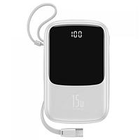 Power Bank Baseus Q pow Digital Display 3A 10000mAh (с кабелем Type-C) White