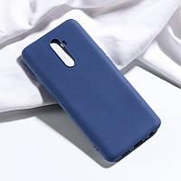 Чехол Fiji Soft для Realme X2 Pro силикон бампер темно-синий