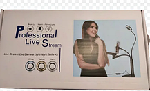 Набор блогера 3в1:гибкий штатив с Led кольцом+держатели для телефона и микрофона, фото 3