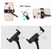 Набор блогера 3в1:гибкий штатив с Led кольцом+держатели для телефона и микрофона, фото 2