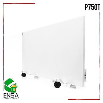 Панельный обогреватель ENSA P750Т с терморегулятором,конвектор электрический бытовой 1000х500х15мм, 750Вт