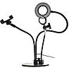 Набор блогера 3в1:гибкий штатив с Led кольцом+держатели для телефона и микрофона, фото 4