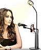 Набор блогера 3в1:гибкий штатив с Led кольцом+держатели для телефона и микрофона, фото 6