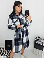 Женское теплое платье-рубашка ,платья рубашка новинка 2020, фото 1