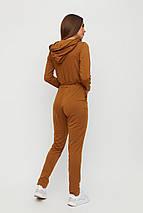 Женский длинный комбинезон с капюшоном на змейке KR-хизер, фото 3