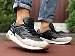 Мужские кроссовки New Balance 1500 (черно-бежевые) 9904, фото 4