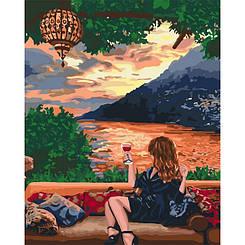 Картины по номерам - Любуясь закатом   Идейка™ 40х50 см.   KH4730