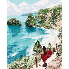 Картины по номерам - Бриллиантовый пляж   Идейка™ 40х50 см.   KH4734