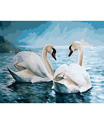 Картины по номерам - Лебединая верность   Rainbow Art™ 40х50 см.   GX7648