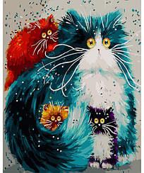 Картины по номерам - Мама кошка   Rainbow Art™ 40х50 см.   GX3805