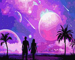 Картины по номерам - Космическое свидание   Rainbow Art™ 40х50 см.   GX34878