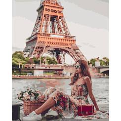 Картины по номерам - Фото в Париже   Rainbow Art™ 40х50 см.   GX28143