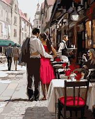 Картины по номерам - Пара в Париже   Brushme™ 40х50 см.   GX3562