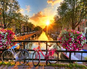 Картини за номерами - Велосипед і вулиця | Lesko™ 40х50 див. | RSB8315