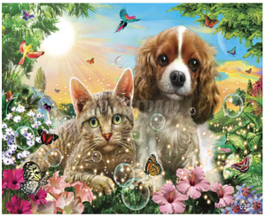 Картини за номерами - Вірні друзі | Lesko™ 40х50 див. | RSB8334