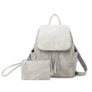 Жіноча сумка - рюкзак HiFlash Сірий