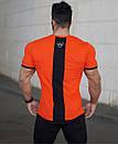 Облягає Футболка бавовняна MCET оранжевого кольору, фото 2