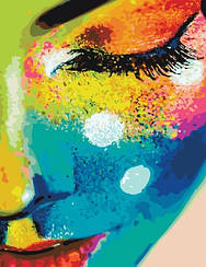 Картины по номерам - Женщина в красках   Brushme™ 40х50 см.   GX21715