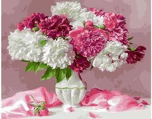 Картины по номерам - Сиреневые хризантемы   Brushme™ 40х50 см.   GX25351