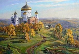 Картини за номерами - Стежка до храму | Lesko™ 40х50 див. | RSB8182
