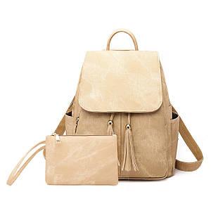 Жіноча сумка - рюкзак HiFlash Бежевий