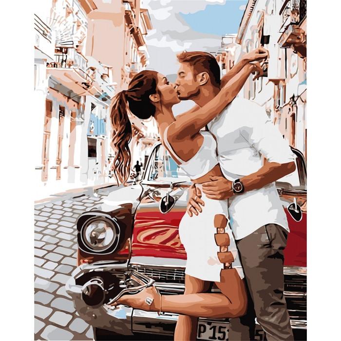 Картина по номерам Страстный поцелуй