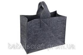 Сумка шоппер з повсті Babel's Craft // BIG // темно-сіра еко сумка ECO bag