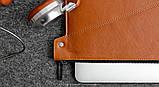 Папка кожаная HandWers для ноутбука 15' BERING  коричневый, фото 3