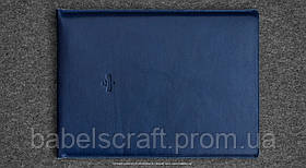 Чехол кожаный HandWers для MacBook 11 (2015) HIKE синий