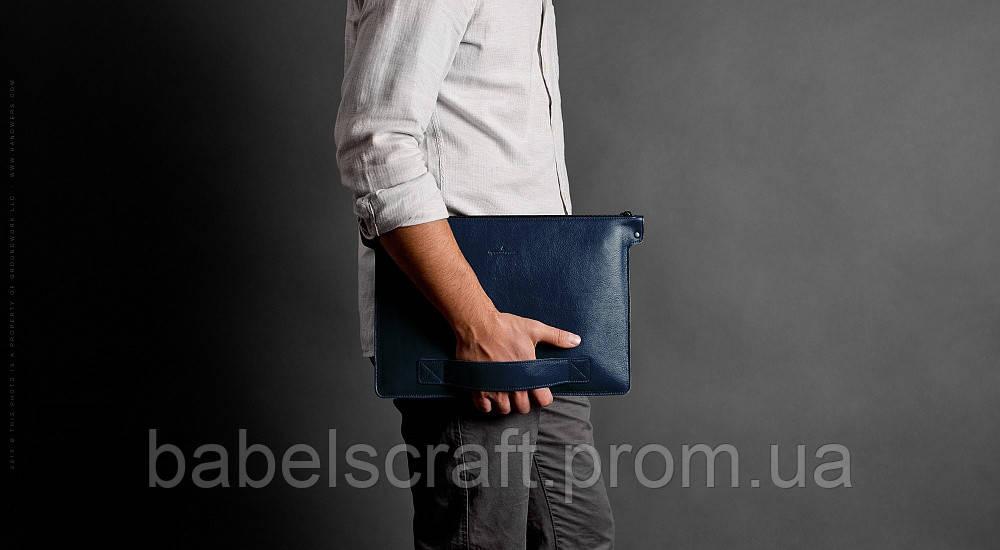 Папка кожаная HandWers для ноутбука 13' BERING синий