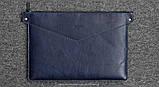 Папка кожаная HandWers для ноутбука 13' BERING синий, фото 3
