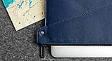 Папка кожаная HandWers для ноутбука 13' BERING синий, фото 4