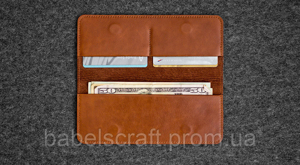 Бумажник HandWers SPIRE коричневый,