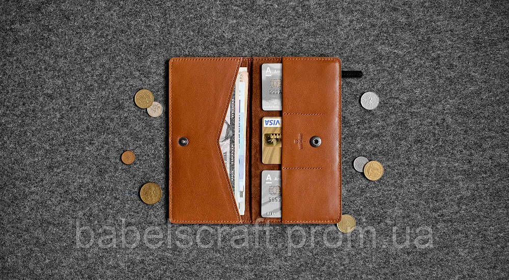 Бумажник HandWers PEAK коричневый