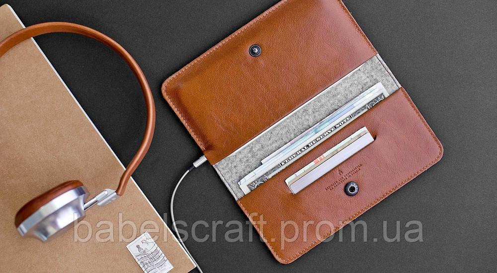 Чехол-бумажник HandWers для iPhone SE, RANCH Коричневый