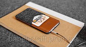 Чехол HandWers для iPhone SE, PARRY  Коричневый с тёмным