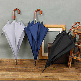 Стильний великий зонт трость з гаком