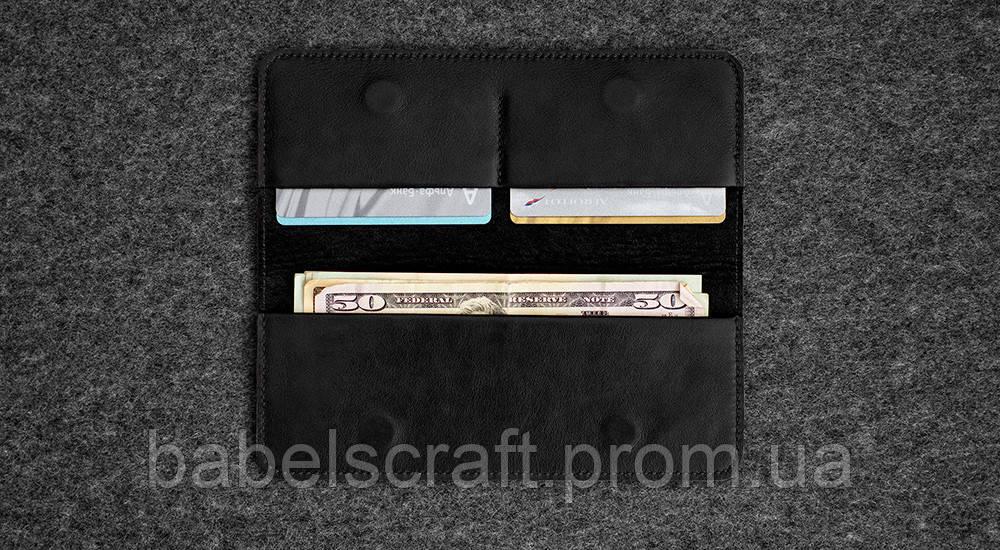 Бумажник HandWers SPIRE черный