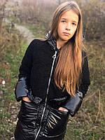 Тепла куртка зимова для дівчинки чорний
