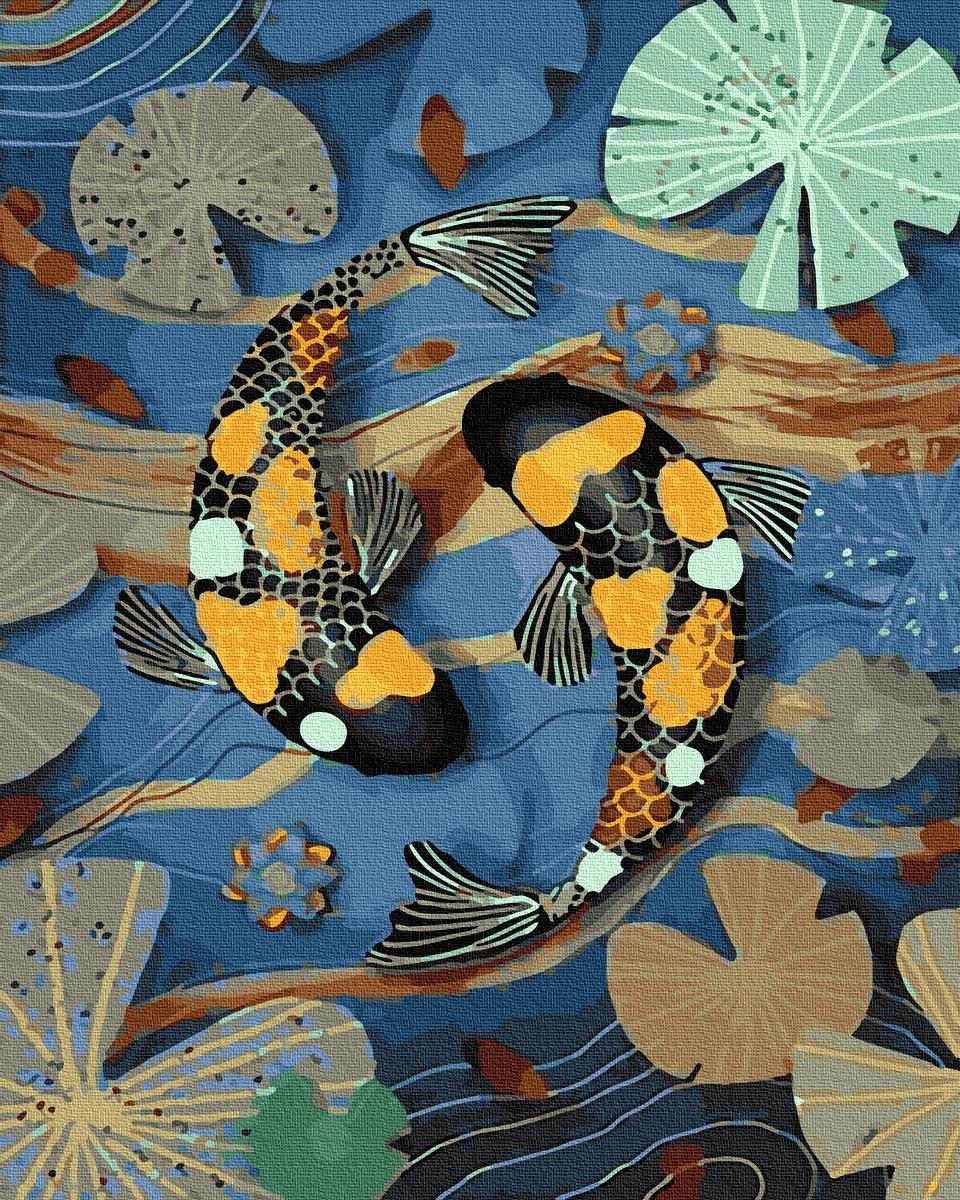 Картина по номерам 40х50см. GX30148 Тропические рыбки Rainbow