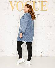 Кардиган женский джинсовый батал. Размеры 52,54,56,58,60,62