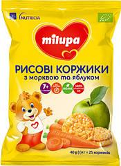 Рисові коржики Milupa з морквою та яблуком, 40 грам = 25 коржиків