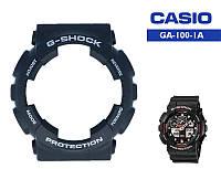 Безель Casio G-Shock GA-100 Black Original с белыми надписями, фото 1