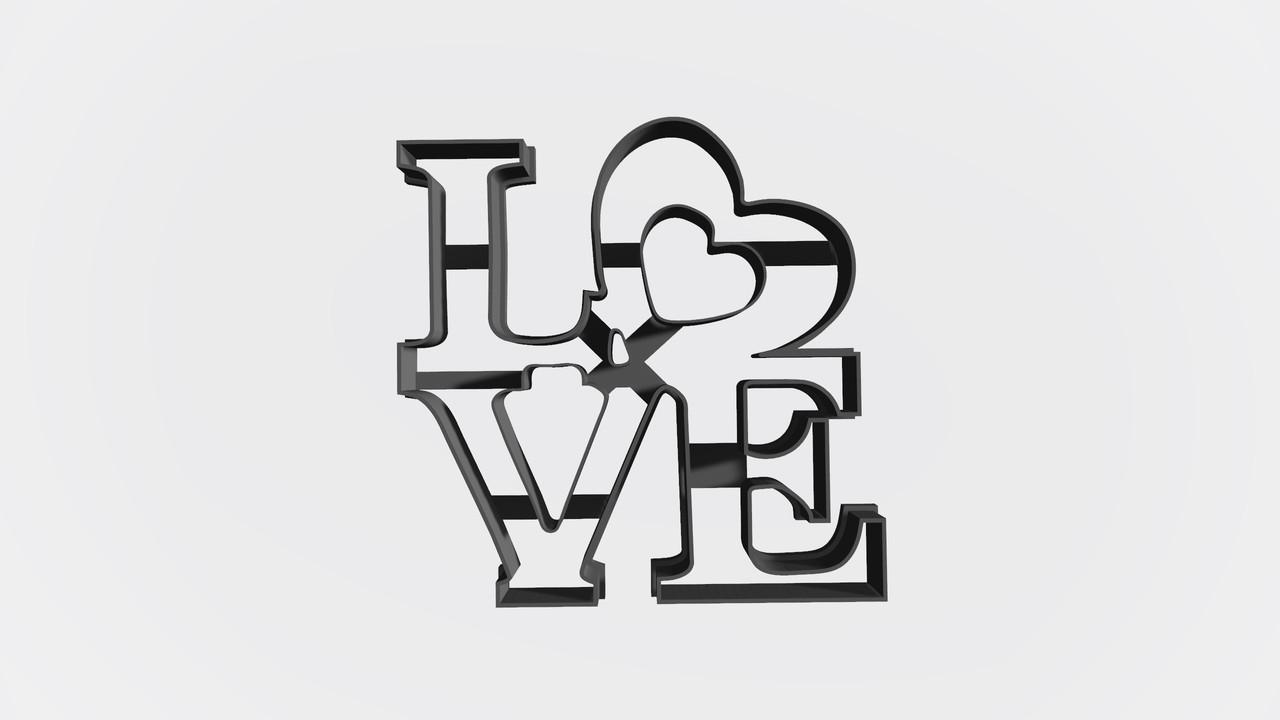 """Висічка для пряника у вигляді фігурки """"Love"""""""