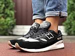 Мужские кроссовки New Balance 1500 (черно-серые с белым) 9906, фото 5