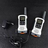 Рация Motorola TLKR T50 (0.5W, PMR446, 446 MHz, до 6 км, 8 каналов, 4xAAA), комплект 2шт, бело-серая, фото 5